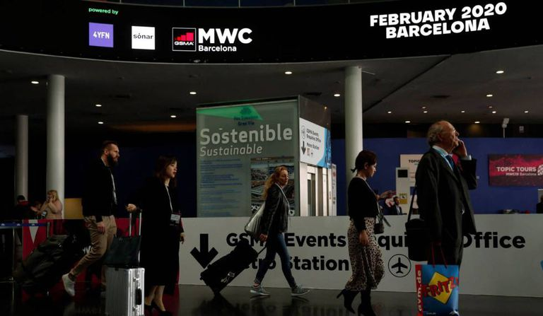 The Mobile World Congress in 2019.