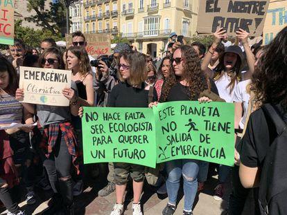 Protests in Valencia.