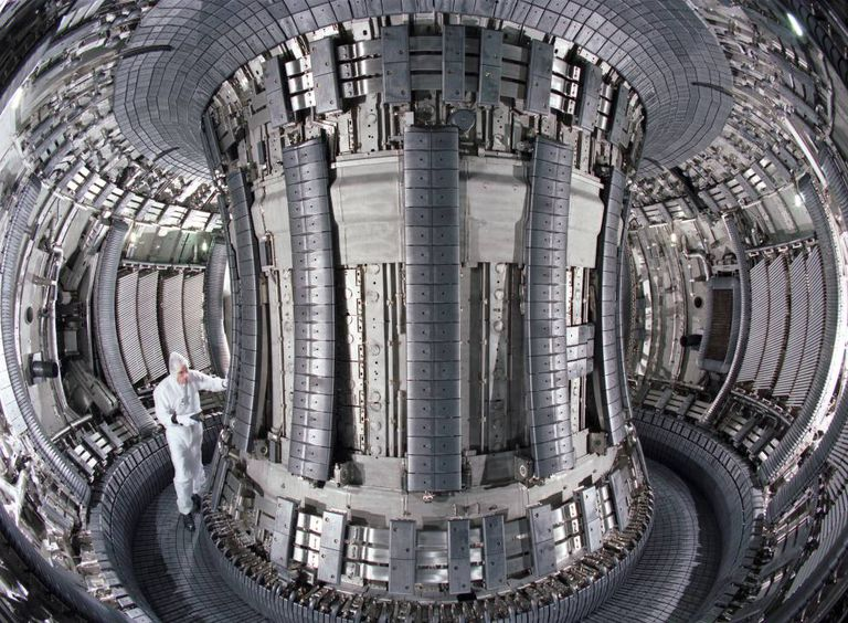 Inside the European fusion reactor laboratory known as Jet, on the outskirts of Oxford.