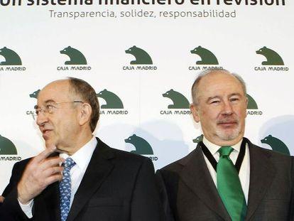 Miguel Ángel Fernández Ordoñez and Rodrigo Rato.