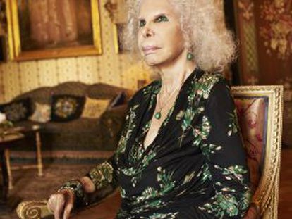 The Duchess of Alba, who holds more than 40 titles of nobility.