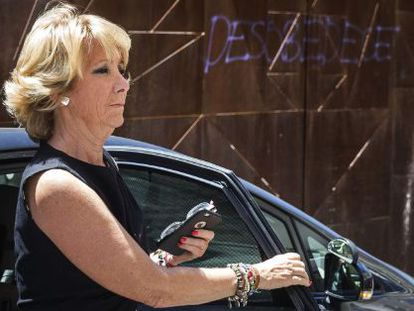 Esperanza Aguirre, the president of Madrid's Popular Party (PP) chapter, seen on Tuesday.