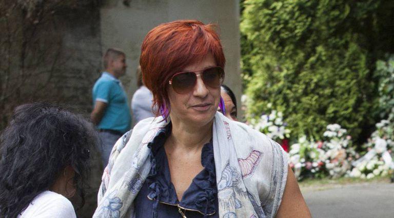 Sandra Ortega at her mother's funeral in 2013.