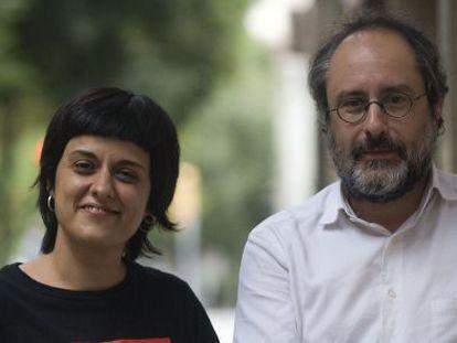Anna Gabriel and Antonio Baños, leaders of CUP.