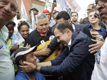 João Doria campaigning in São Paulo.