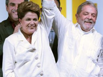 Rousseff and Lula da Silva seen last October.
