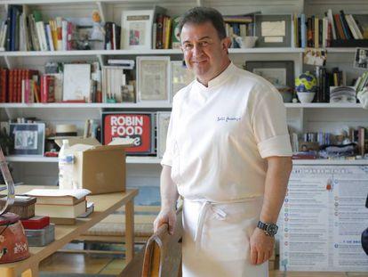Chef Martín Berasategui in his restaurant Martín Berasategui de Lasarte-Oria (Gipuzcoa).