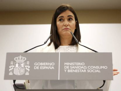 Spanish Health Minister Carmen Montón.