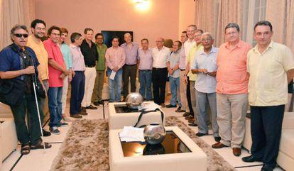 Members of both delegations in Havana.