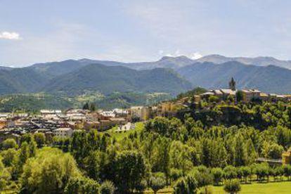 View of Bellver de Cerdanya in Lleida.