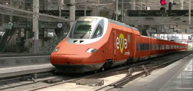 A simulation of what the EVA train will look like.