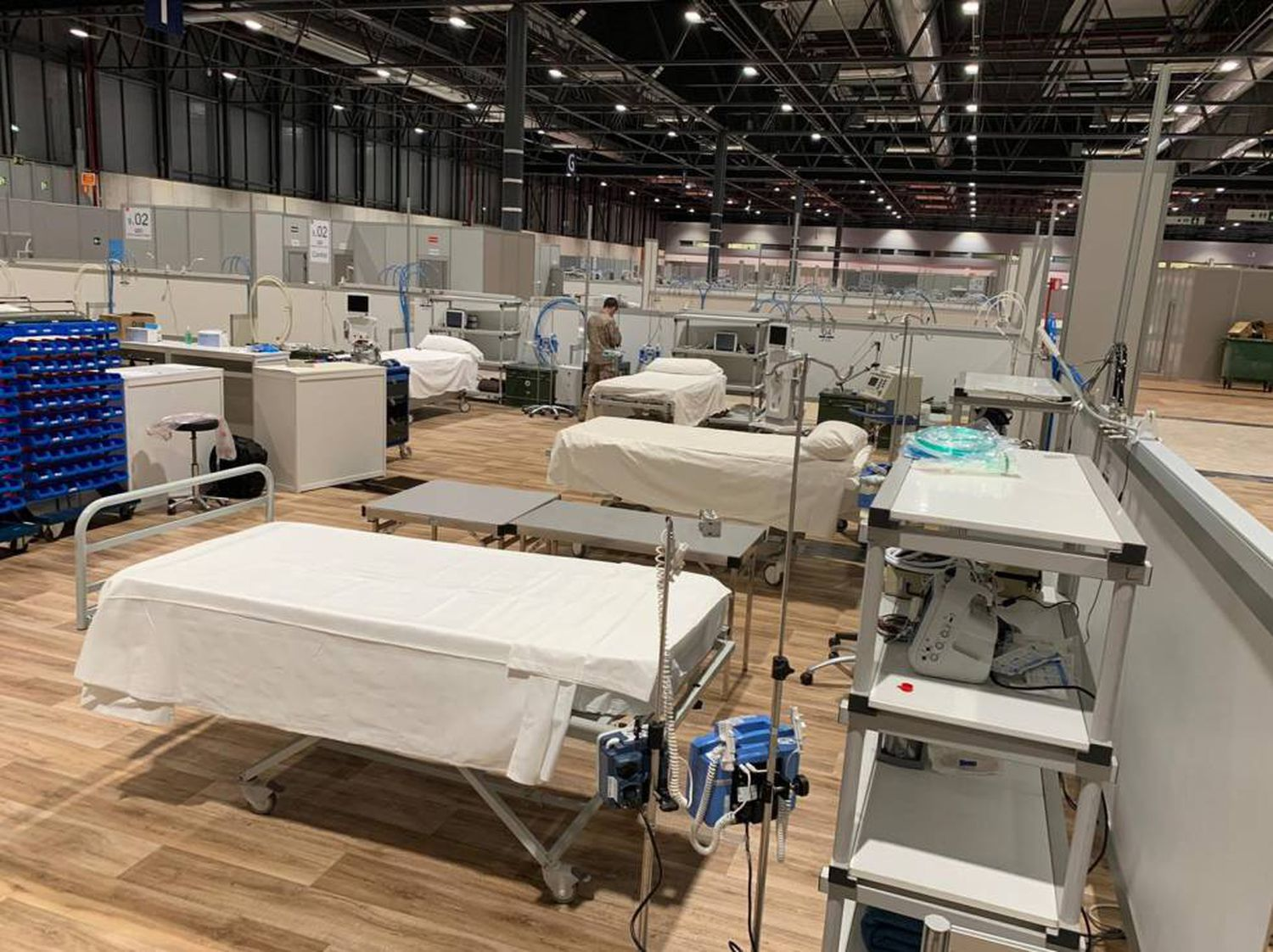 Intensive care beds at the Ifema field hospital.