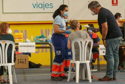 Covid-19 vaccination drive in Gines, Seville.