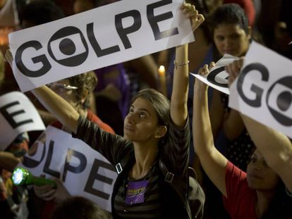 Protests against the Rousseff impeachment process.