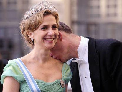 Princess Cristina and Iñaki Urdangarin at the wedding of Sweden's Crown Princess Victoria and Daniel Westling in 2010.