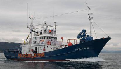 The rescue boat 'Aita Mari'.