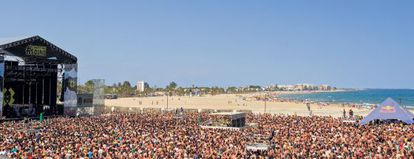 The Arenal Sound festival in Burriana, Castellón.