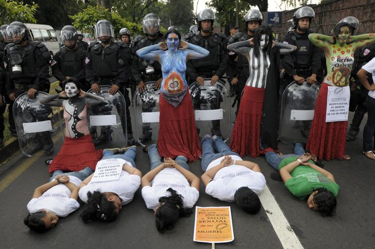 A 2012 protest in El Salvador calling for abortion to be made legal.