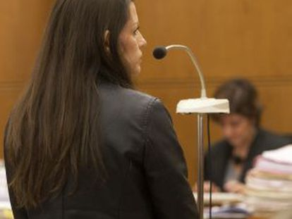 María Ángeles Molina Fernández during her trial in Barcelona.