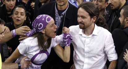 Pablo Iglesias at the Podemos assembly last October.