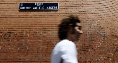 Franco's lasting legacy: The Paseo del Doctor Vallejo-Nágera in Madrid's Acacias district is named after a Francoist military psychiatric chief. Click on the photo for more information.