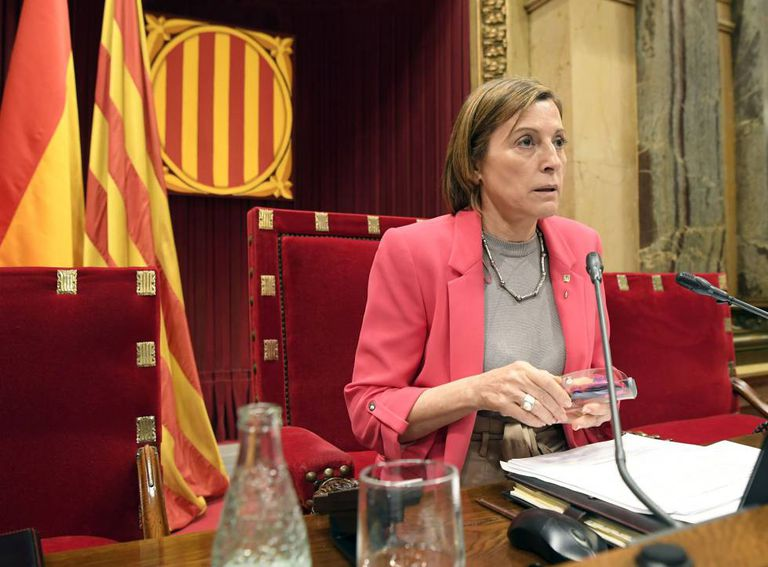 Carme Forcadell, the speaker of the Catalan regional parliament.