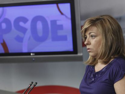 Elena Valenciano, PSOE deputy secretary general, on Tuesday.