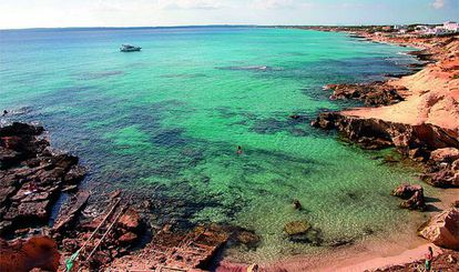 The crystal clear waters around Formentera.