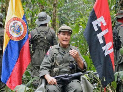 Members of the ELN rebel movement seen last April.