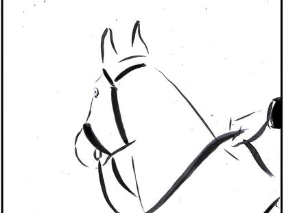 """""""'One day I will take the reins,' thought the horse, 'and then…'"""""""