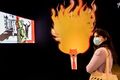 Edel Rodriguez's exhibition at the Carme Center of Contemporary Culture in Valencia.