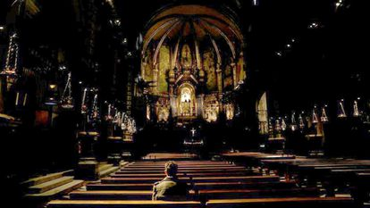 A victim of abuse inside a Catholic Church in Montserrat in Barcelona province.