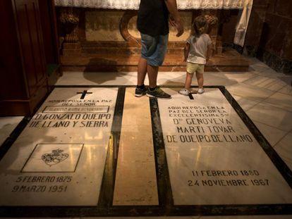 Grave of General Queipo de Llano.