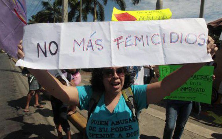 Protestors in Managua demonstrate against Nicaragua's high incidence of female murders.