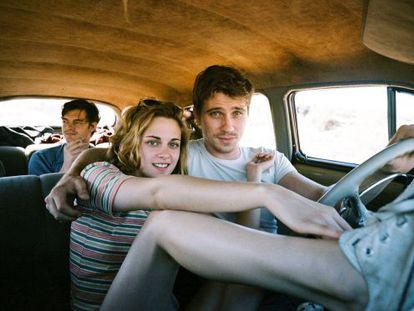 Kristen Stewart, Garrett Hedlund (r) and Sam Riley in On the Road.