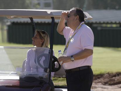 Carlos Fabra during a game on the Castellón golf course his father founded in 1978.