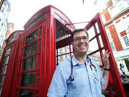 """Sergi Ortiz-Alinque, a family doctor who works in London, has no immediate plans to return: """"There is no sign from the government that it wants to improve things."""""""