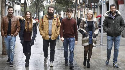 Eduardo Fierro, Cristina Mateo, Elías Rodríguez, Andrés Huerta, Teresa López, y Raúl Tejada