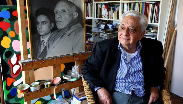 Painter Jose Luis Galicia in his Madrid studio.