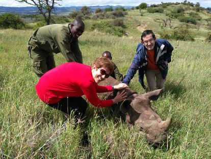 The Galician parasitologists working to save animals in Kenya.
