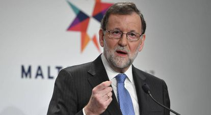 Spanish Prime Minster Mariano Rajoy during a recent trip to Malta.