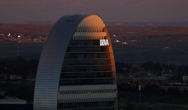 BBVA building in Madrid.