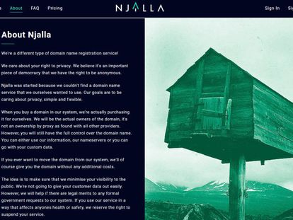 The Njalla website.