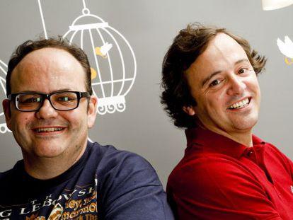 Gustavo Entrala (l) and his agency colleague Carlos García-Hoz.
