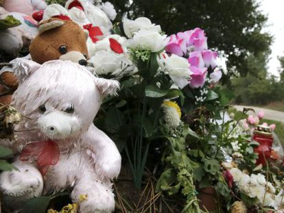 Stuffed toys left at this site where Asunta's body was discovered.
