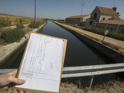 The irrigation canal of the Jarama river.