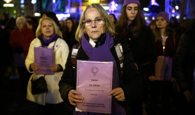 A demonstration in Madrid against gender violence held on November 25, 2019.