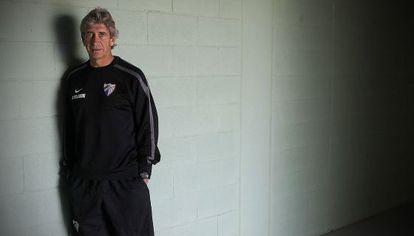 Outgoing Málaga coach Manuel Pellegrini.