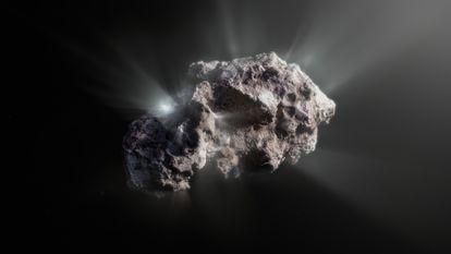 An illustration of what the comet 2I/Borisov looks like.
