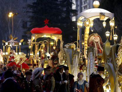 The 2015 Three Magi parade in Madrid.